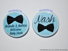 Gender Reveal Buttons Little man Baby Shower It's a by PINKTASTIK