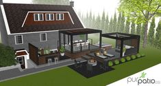 Large backyard landscaping ideas are quite many. However, for you to achieve the best landscaping for a large backyard you need to have a good design. Large Backyard Landscaping, Patio Gazebo, Pergola Swing, Deck With Pergola, Cheap Pergola, Backyard Pergola, Pergola Plans, Pergola Ideas, Patio Ideas