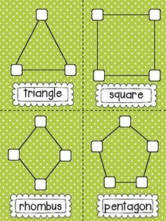 {Shape Building} with printables from Sweet Kindergarten*FREE* Marshmallow Shapes! {Shape Building} with printables from Sweet Kindergarten Teaching Shapes, Teaching Math, Fun Math, Preschool Activities, Preschool Shapes, Shape Activities, Babysitting Activities, Geometry Activities, Math School