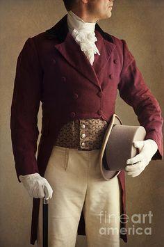 Victorian Gentleman Mid Section Print By Lee Avison