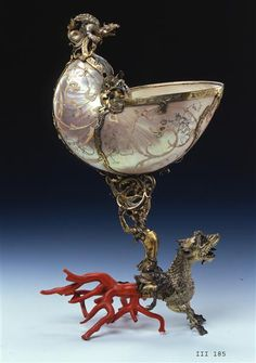 Nautilus Goblet with Dragon  Germany, early 17th century  Staatliche Kunstsammlung Dresden