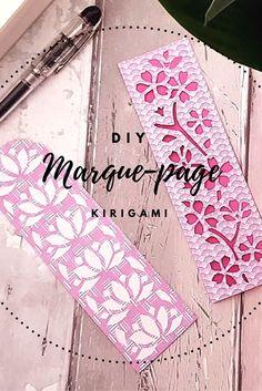 Marque-page DIY paper cut