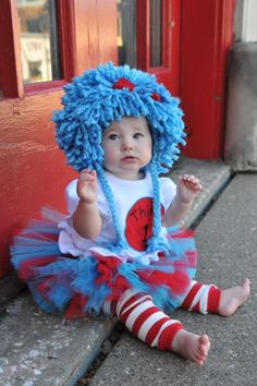 Dr Seuss Thing 1 and Thing 2 Tutu Outfits