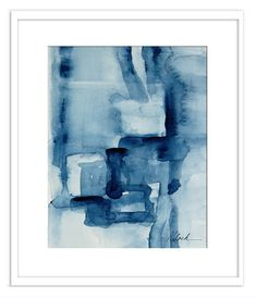 Small minimalism watercolor abstract painting by VictoriaKloch, $200.00