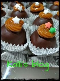 """Kalli's blog: """"Τρουφάκια banoffee"""" Taco Bar Catering, Catering Display, Burger Bar, Banoffee, Food Stations, Party Buffet, Kids Nutrition, Nutella, Deserts"""