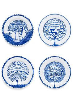Living a Foodie-tale Plate Set