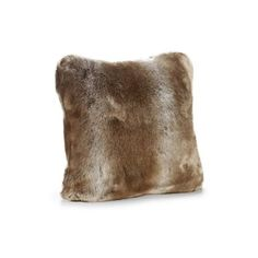 Donna Salyers' Fabulous-Furs Couture Collection Pillow (140 CAD) ❤ liked on Polyvore featuring home, home decor, throw pillows, decor, timber wolf and faux fur throw pillows