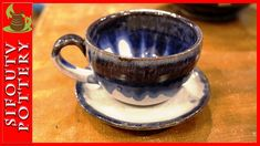 Pottery throwing - How to Make a Pottery Tea Mug with plate #80