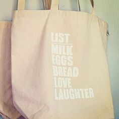 The Simple List Everyday Market & Tote Bag...100% Recycled Canvas Cotton Grocery Eco-Bag. $22,00, via Etsy.