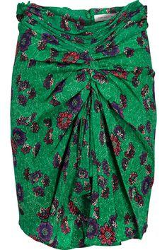 ETOILE ISABEL MARANT Sevan Floral-Print Crepe De Chine Skirt. #etoileisabelmarant #cloth #skirt