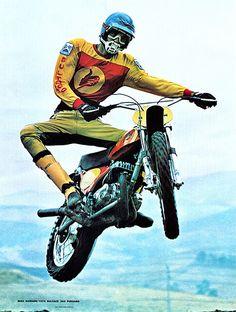 1975 Mike Hannon on the Bultaco 360 Pursang - Jim Mercier Photo
