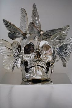 Philippe Pasqua 'Crane 6', 2009 (Bronze plunged into a bath of chrome)