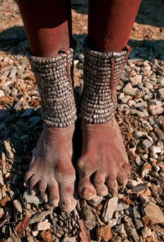 Africa | Details; Himba woman's anklets.  Southern Angola | ©Eric Lafforgue