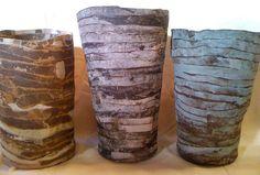 banded vessels by Brenda Holzke