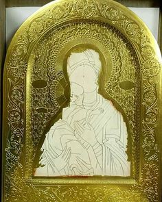 Religious Icons, Religious Art, Stages Of Writing, Feuille D'or, Ornaments Design, Art Icon, Orthodox Icons, Agate Stone, Hand Engraving