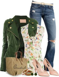 Vestir con un top con Flores - Outfits 7