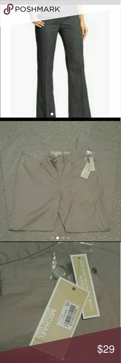 Nwt Michael kors  pants size 10 Gramercy fit Color taupe Brand new with the tag Size 10 Michael Kors Pants