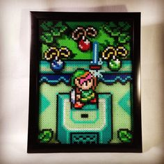 LoZ Link to the Past perler beads by chriswithata