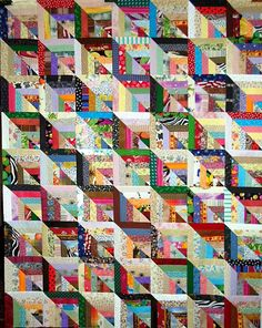 scrappy quilt, Linda Rotz Miller Quilts