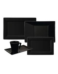 Oxford Porcelanas - Plateau Black 30 peças