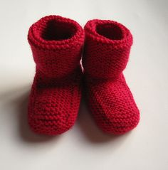 baby booties! I want to make tons of these in all colors for inevitable babies-to-come.