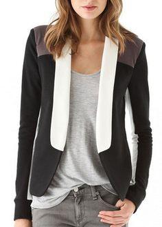 Enchanting Long Sleeve Woman Blazer with Turndown Collar