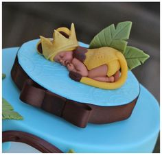 Sleeping Baby Lion Cake Topper by HotMamasCakeToppers on Etsy, $25.00
