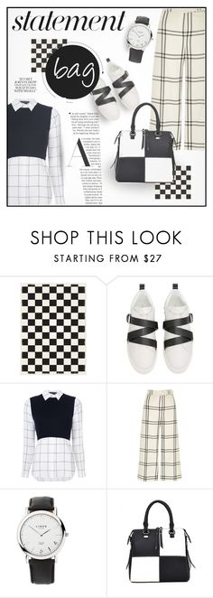 """Black & White"" by house-of-the-black-smith ❤ liked on Polyvore featuring Valentino, Alice + Olivia, River Island and Links of London"