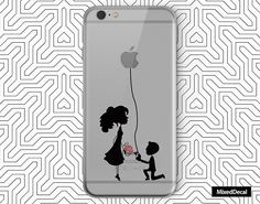 iPhone 7 Decal back cover Transparent Loving sticker by MixedDecal