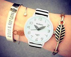 Zegarek WOMAGE DAMSKI ZEBRA OŁÓWEK EdiBazzar