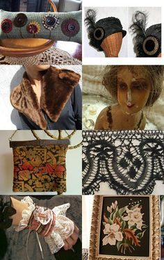 My Aunt Mary Beth's beautiful creations, all vintage materials and simply fabulous!--Pinned with TreasuryPin.com