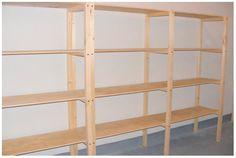 Resultado de imagen para como hacer estanterias de madera para bodega