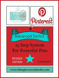 #PinterestCoach shares 25 advanced pinning tactics to rapidly grow your number of followers! Go here to see the full report http://www.whiteglovesocialmedia.com/10-advanced-pinning-tactics-25-step-system-for-powerful-pins/ ✭Pinterest Expert Anna Bennett✭