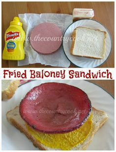 Fried Baloney Sandwich