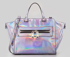 Milly Goes All-In On The Holographic Bag Trend - PurseBlog