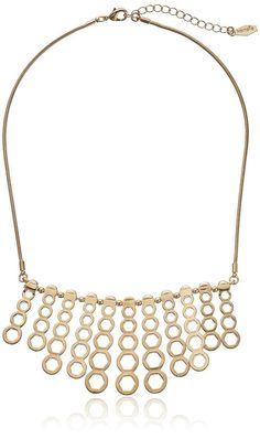 """Kensie """"Cherry Blossom Girl"""" Gold-Plated Hexagon Bar Shower Necklace"""