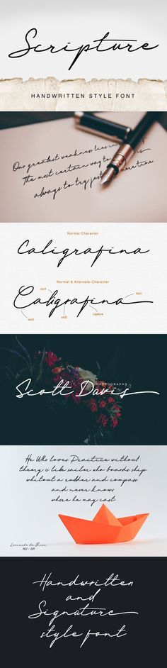 Scripture. Best Fonts