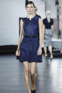 Jason Wu's spring 2015 collection included a roomy royal-blue playsuit in dyed suede.