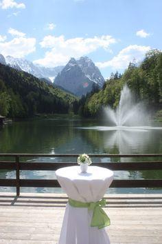 Hochzeitsempfang auf der Seeterrasse am Riessersee - heiraten in Bayern, Garmisch