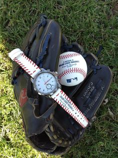 Visins watch with a strap made from a real baseball!