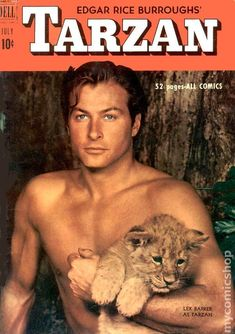 Lex Barker (May 1919 – May was an American actor best known for playing Tarzan of the Apes and leading characters from Karl May's novels. Old Comics, Marvel Dc Comics, Comic Movies, Comic Books, Tarzan Movie, Tarzan Of The Apes, Cartoon Quotes, Fantasy Illustration, King Kong