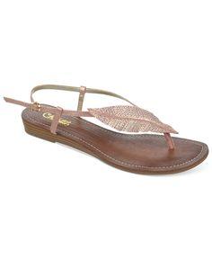 Carlos by Carlos Santana Tandy Sparkle Leaf Flat Thong Sandals - Carlos Santana - Shoes - Macy's (in silver!)