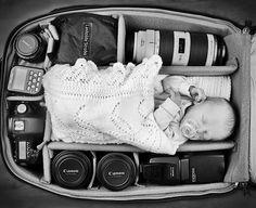 These 12 Babies Fitting Perfectly Into Their Photographer Parent's Camera Bags Are Just Adorable