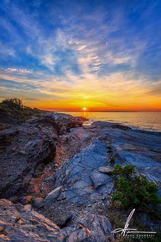 Rhode Island | Beavertail Lighthouse Cliffs by E. Gene Chambers on 500px