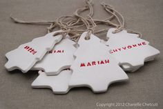 There is just something so lovely about a personalised Christmas decoration.