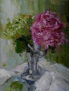 """Antique Vase""  9x12""  oil on canvas  Kathryn Trotter  www.kathryntrotterart.com"