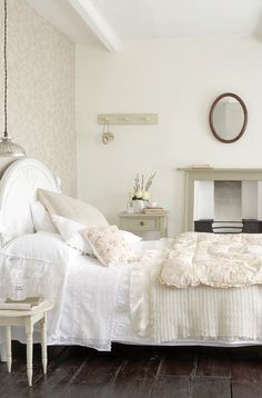 Restful Bedroom Colors - Portland Stone Bedroom - via Little Green, Paint and Paper