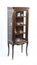 Antique French Mahogany Display Cabinet c.1900