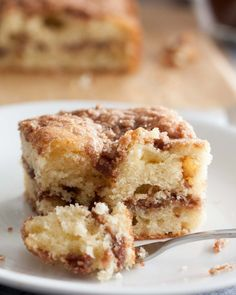 Here's a cinnamon crumb coffee cake recipe that you'll make again and again - a tender cake with cinnamon crumble topping. We love this for breakfast, snack, or dessert! Crumb Coffee Cakes, Cinnamon Crumble, Cinnamon Rolls, Coffee Ingredients, Tall Cakes, Diy Wedding Cake, Chops Recipe, Pork Chop Recipes, Cuban Recipes