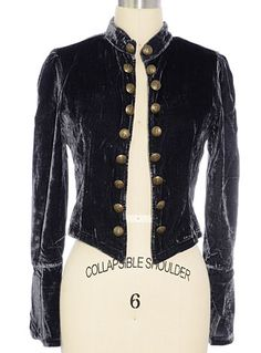$99.00 Black Sheep Velvet Militia Jacket - S | PLASTICLAND  http://www.shopplasticland.com/store/merchant.mvc?Screen=PROD_Code=P21101601_Code=Clothing